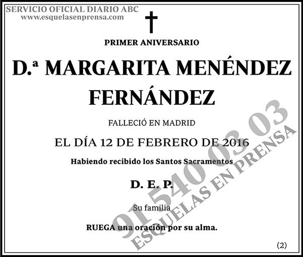 Margarita Menéndez Fernández